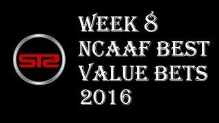 College Football Week 8 Predictions - Picks Against The Spread - NCAAF Week 8 Picks 2016 - Las Vegas