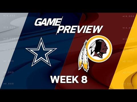 Dallas Cowboys vs. Washington Redskins | Week 8 Game Preview | Move the Sticks