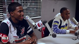"King Combs & Bay Swag Talk ""Type Different"", New Music, Fashion & More at 1035 The Beat!"