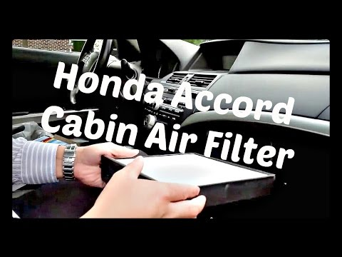 How to Replace Cabin Air Filter For 2002 - 2015 Honda Accord