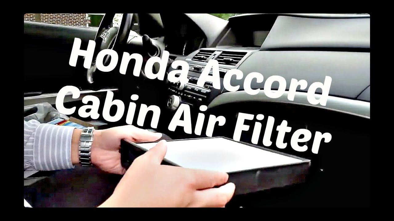 How To Replace Cabin Air Filter For 2002 2017 Honda Accord