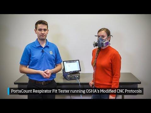 Demo – PortaCount Respirator Fit Tester Running OSHA's Modified CNC Protocols