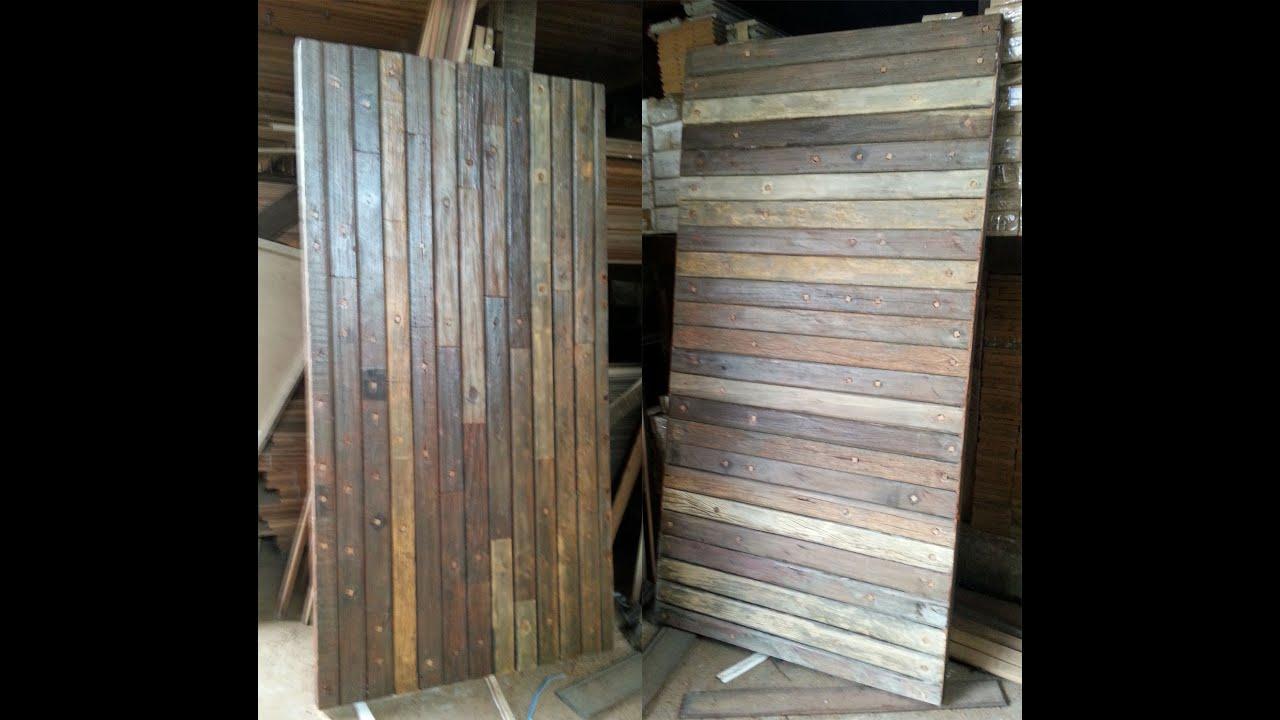 Muito Porta em madeira demolicao - Porta pivotante - Modelo em cruzetas  EF61
