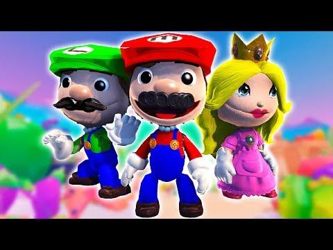 LittleBigPlanet 3 - All Super Mario Costumes (Fan Made) Mario Luigi Princess Peach and More!