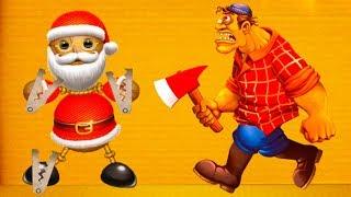 Дед МОРОЗ или Санта АНТИСТРЕСС 56 Новогодний Эксперимент Кида с игрушкой Kick The Buddy КРУТИЛКИНЫ