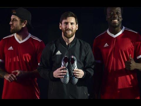 poetas cooperar Roca  Messi presenta sus nuevas botas Adidas - YouTube