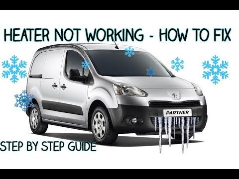 Peugeot Partner Blower Motor Not Working - Problem Solved - YouTube