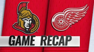 Tierney scores twice in 4-2 win against Red Wings