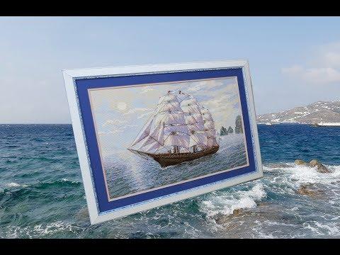 Риолис корабль вышивка
