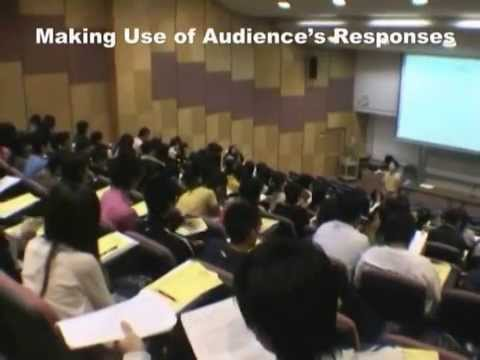 Interactive Mass Lecturing (Video 4 - Making use of audience's responses)