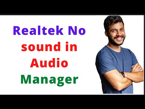 Realtek HD Audio Manager Not Showing In Control Panel In Hindi | Realtek No Sound In Audio Manager