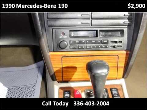 1990 mercedes benz 190 used cars winston salem nc youtube. Black Bedroom Furniture Sets. Home Design Ideas