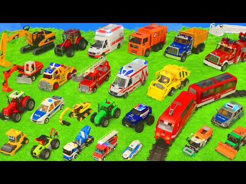 Fire Truck, Tractor, Train, Police Cars, Garbage Trucks & Ex