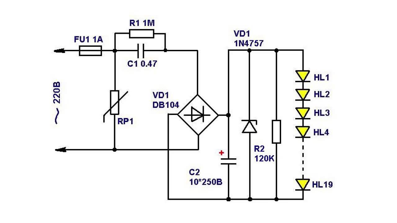Драйвер 12 вольт схема
