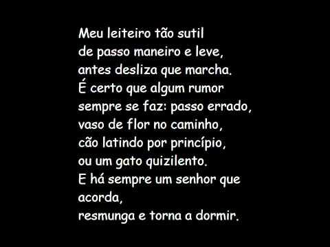 Carlos Drummond De Andrade Morte Do Leiteiro Youtube