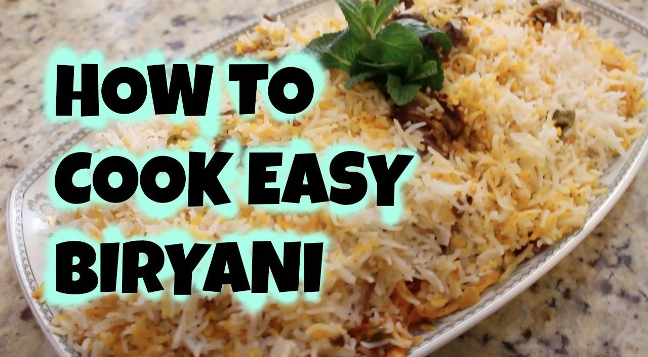 How to Make Beef Biryani advise