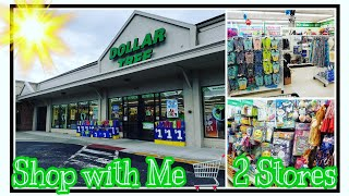 DOLLAR TREE SHOP WITH ME * TWO STORES * JUNE 2019