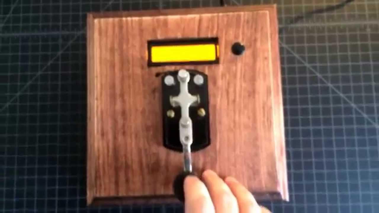 Morse code decoder box : escape room puzzle