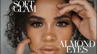 How to: NATURAL makeup for ALMOND SHAPE eyes (easy) (beginner friendly)