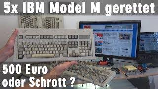IBM Model M 5x gerettet - 500 Euro Wert oder nur Schrott? Tastatur-Test mit Windows 10