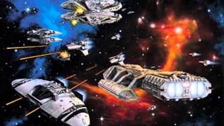 Battlestar Galactica theme composed by Stu Philips, conducted by John Williams