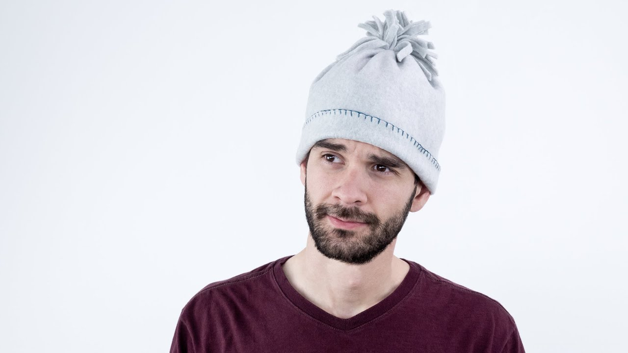 How to Sew a Fleece Winter Hat - YouTube