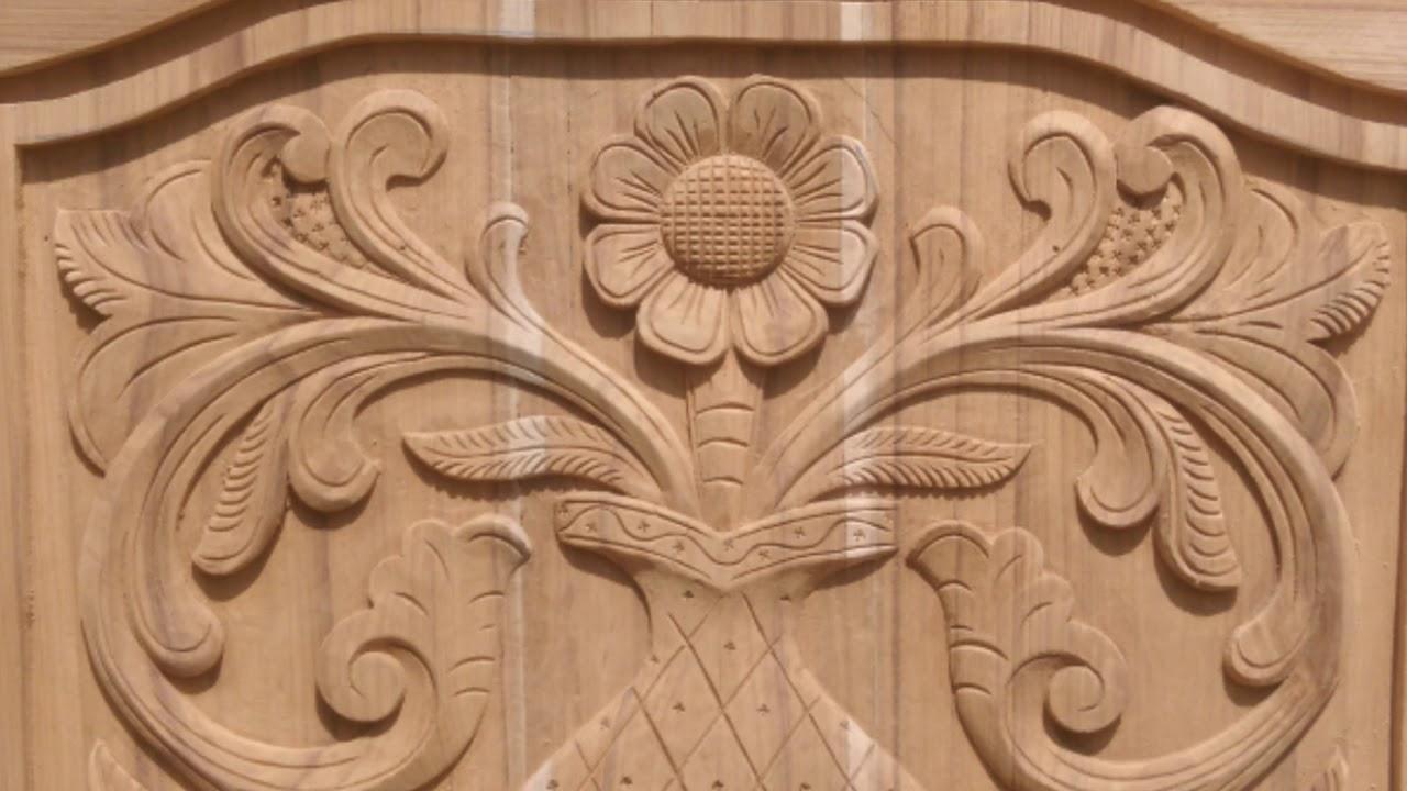 Main door 🚪 wood carving design pigeon wood carving youtube