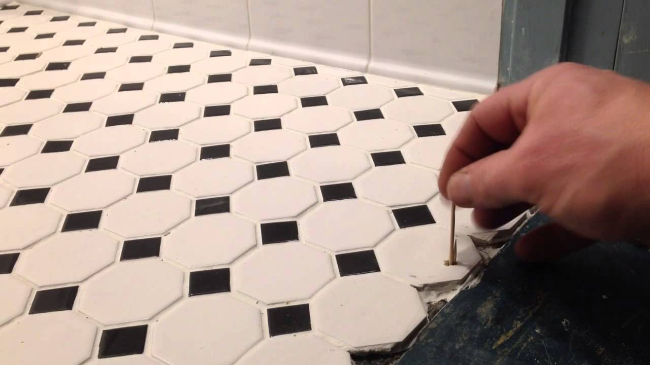 installing a transition strip into concrete