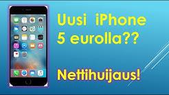 Uusi iPhone tai iPad vain 5 eurolla - nettihuijaus!