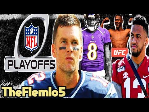 NFL Playoff Predictions! Tom Brady Future! Tua Enters NFL Draft! Antonio Brown vs Logan Paul & More!