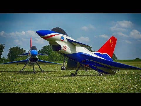 2x CHENGDU J-10 CARF MODELS RC SCALE JET * VECTOR THRUST / RAGOW 2018