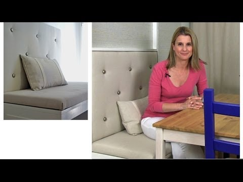 How To Build An Upholstered Panel For A Banquette Youtube