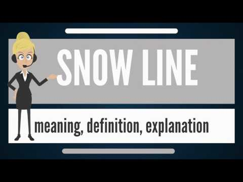 What is SNOW LINE? What does SNOW LINE mean? SNOW LINE meaning, definition & explanation