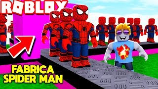 SPIDERMAN FACTORY L'uomo ALAIn ROBLOX (Super Hero Tycoon) CON MANUCRAFT