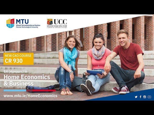 Live Webinar: BA (Hons) in Home Economics & Business (CR930)