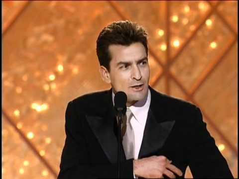 Anger Management's Charlie Sheen Wins Best Actor TV Series Musical Or Comedy - Golden Globes 2002
