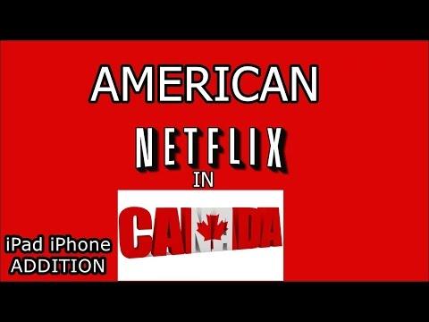American Netflix on iPad or iPhone in Canada  ios