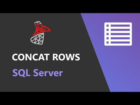 SQL Server -  Concatenate Multiple Rows Into Single String