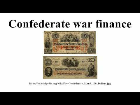 Confederate war finance