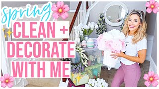 *NEW* SPRING CLEAN + DECORATE WITH ME 2020 🌸🏡 HOUSE TOUR! SAHM HOMEMAKING CLEAN WITH ME! @Brianna K