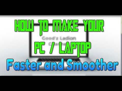 HOW TO MAKE YOUR PC/LAPTOP RUN FASTER WINDOWS 7/8.1/10