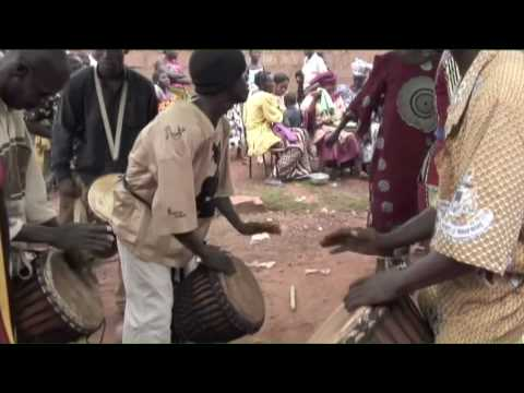 Best Djembe Jam! Mali Djembe Drums and Dance, Baby Naming Party,pt.2