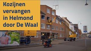 De Waal plaatst nieuwe kozijnen met torenkraan en hoogwerker