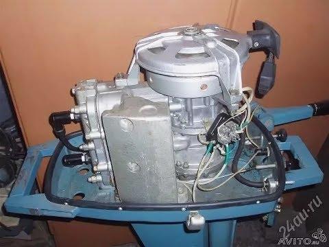 Новый лодочный мотор Вихрь-М 25 л.с. пролежал в гараже около 40 лет