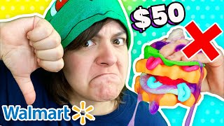 Cash or Trash? The MOST EXPENSIVE Squishy. Testing 3 Craft Kits from Walmart Slimi Cafe & Hangrees