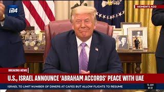 President Trump Announces Israel-UAE 'Abraham Accord' Peace Deal