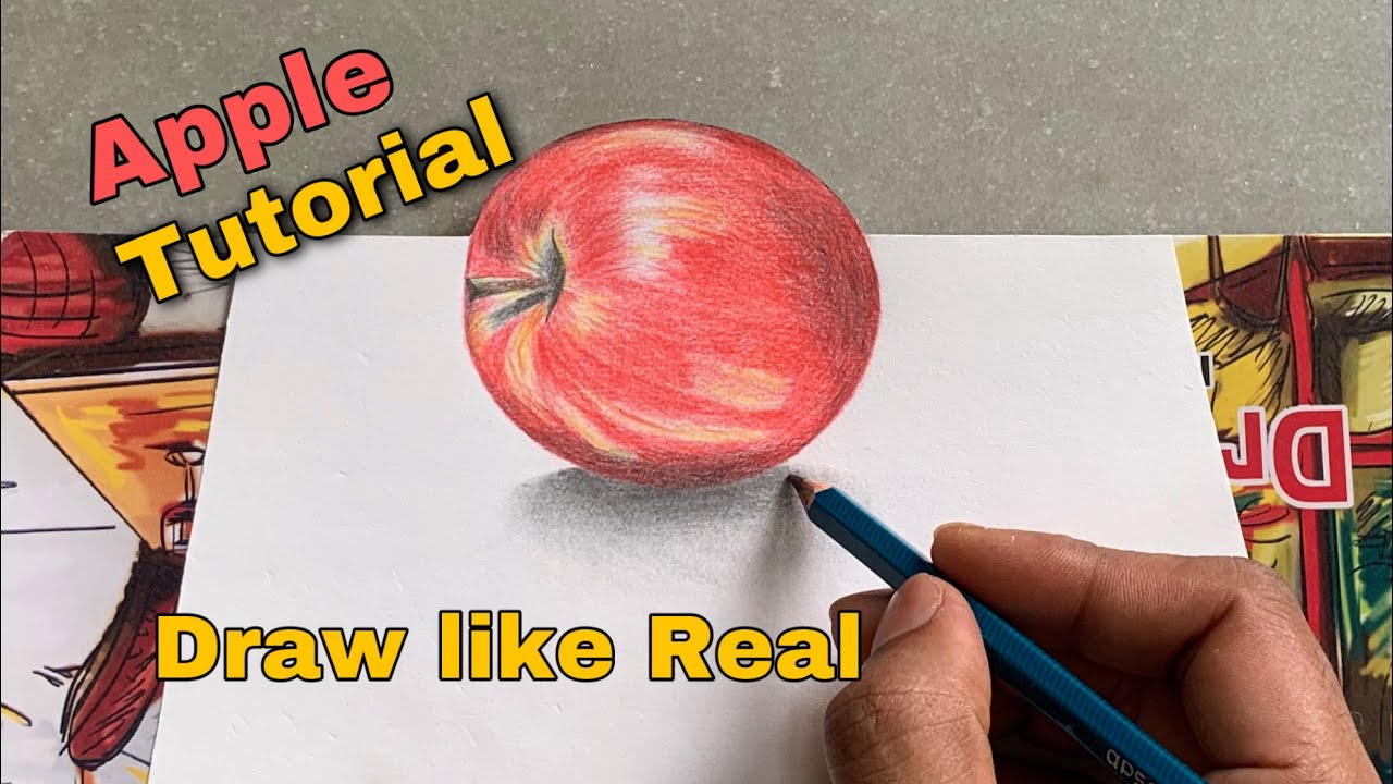 Apple || how to draw realistic apple #Apple