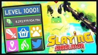 LEVEL 10000, NEW CODE, SUBZERO ZONE & 15TH PRESTIGE!   Roblox Slaying Simulator
