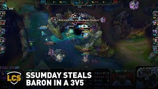 Ssumday Steals Baron in a 3v5