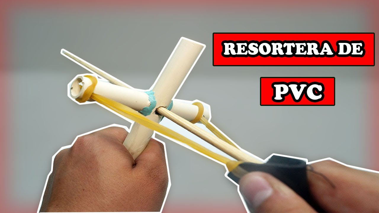 Resortera Casera Con PVC - MUY POTENTE - Tutorial - YMX supervivencia